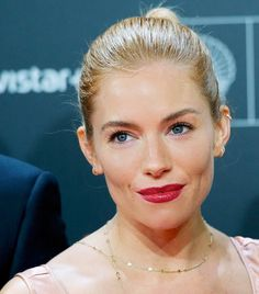 Sienna Miller and the Elegant Updo: A Visual Case Study via @ByrdieBeauty