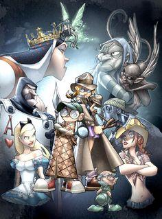Fiction Squad Cover C Incentive Humberto Ramos Virgin Variant Line Artist, Artist Alley, Comic Kunst, Inspirational Artwork, Comic Artist, Comic Books Art, Art Google, Alice In Wonderland, Fantasy Art