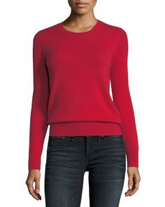 Get free shipping on Neiman Marcus Cashmere Collection Classic Cashmere Crewneck Sweater at Neiman Marcus. Shop the latest luxury fashions from top designers.