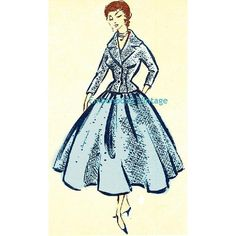 Plus Size or any size Vintage 1949 Skirt Suit by EmbonpointVintage