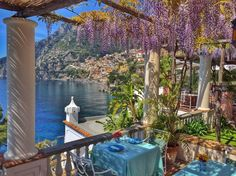 Positano from the Villa TreVille ✈✈✈ Here is your chance to win a Free Roundtrip Ticket to Amalfi Coast, Italy from anywhere in the world **GIVEAWAY** ✈✈✈ https://thedecisionmoment.com/free-roundtrip-tickets-to-europe-italy-amalfi-coast/