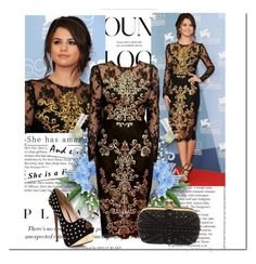 """Selena Gomez beauty look"" by selenatorzara ❤ liked on Polyvore featuring Alberta Ferretti, Dolce&Gabbana and Alexander McQueen"