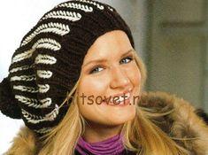 Knitted Hats, Crochet Hats, Cute Hats, Beret, Winter Hats, Beanie, Hair Accessories, Sewing, Knitting