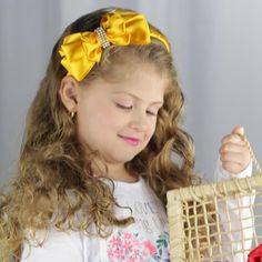 5dc207af5ea55 Tiara Infantil Amarela com Strass Cantinho Do Artesanato, Artesanato Para  Bebes, Como Fazer Tiara