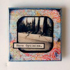 Have Optimism  3x3 Tile Magnet by BiscottiDesigns on Etsy, $10.00
