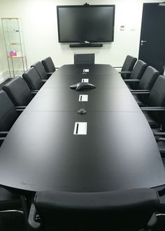 Conference Table in Black Laminate