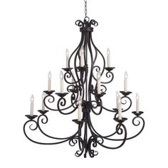 Maxim Lighting 12219OI 15 Light Manor Chandelier, Oil Rubbed Bronze at ATG Stores