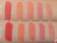 Kiko Smart Lipstick Swatches 908 - 907 - 905 - 904 - 903