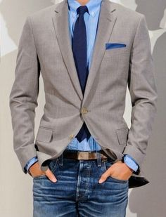 38 Stylish Men Looks With Jeans Suitable For Work | Styleoholic | Raddest Fashion Looks On The Internet