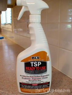 Painting Cabinets: Instead Of Sanding, Clean Cabinets With TSP (Polyurethane Is The Key To Keep Paint From Peeling/Chipping)
