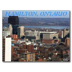 Hamilton Central, Ontario Postcard #Hamilton #Central #HamOnt #design #stockphoto #Zazzle/alexiotzovphotograph #gift #postcard