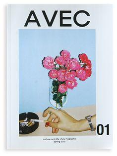 AVEC - tu veux.......? vintage polaroid photo/old magazine ad style