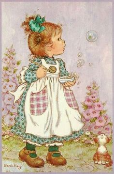 Vintage Postcard Sarah Kay by CuteEyeCatchers on Etsy Sarah Key, Holly Hobbie, Vintage Cards, Vintage Postcards, Vintage Pictures, Cute Pictures, Mary May, Happy Merry Christmas, Christmas 2019
