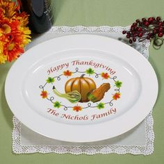 Personalized Thanksgiving Platter Thanksgiving by MonogramBelle on etsy