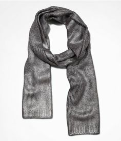 FOILED KNIT OBLONG SCARF | Express, 24-
