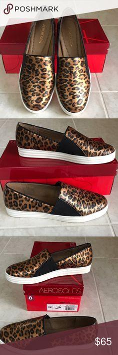 "🎉NIB Aerosoles Saltwater Leopard Fashion Sneakers 🎉Brand new in box, Aerosoles fashion ""Saltwater"" leopard combo sneakers, size 8. Memory foam insole, very comfortable!🌟 AEROSOLES Shoes Sneakers"