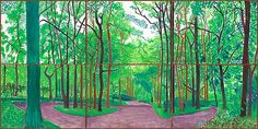 David Hockney: The East Yorkshire Landscape, paintings, Woldgate Woods III, May 20 & 21 David Hockney Artwork, David Hockney Landscapes, Summer Landscape, Abstract Landscape, Landscape Paintings, Contemporary Landscape, Pop Art Movement, Safari, Royal Academy Of Arts