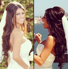 Gorgeous wedding hair #hairstyle #bride #bridal half up do http://www.itgirlweddings.com/
