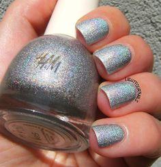 H&M Space Race @hm #holographic #silver #nailpolish #smalto