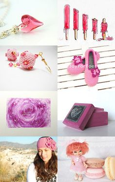 A Bright Splash of Pink!! by bloomingcreations on Etsy--Pinned with TreasuryPin.com