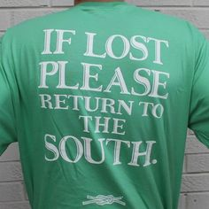 Return to the South Pocket Tee in Green by Knot Clothing & Belt Co. Haha yes!