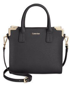 Calvin Klein On My Corner Saffiano Mini Crossbody Bag