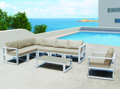New York lounge furniture with Sunbrella Cushions #AluminumFurniture #OutdoorSeating #OutdoorCushions