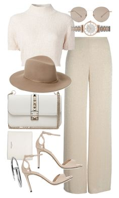 """Untitled #20184"" by florencia95 ❤ liked on Polyvore featuring Valentino, Yves Saint Laurent, Armani Collezioni, Dolce&Gabbana, Rachel Comey, Janessa Leone, Gucci and Emporio Armani"