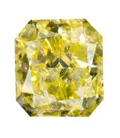 0.75 Carat Fancy Yellow Radiant Diamond