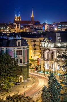Nightscape of Wroclaw - Night view of Wroclaw main street Swidnicka from Renoma shopping mall.