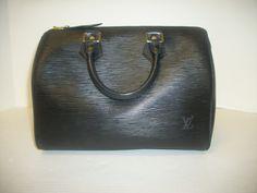 e75e102bdc8d Keeks Buy Sell Designer Handbags - Louis Vuitton Black Epi Speedy 25