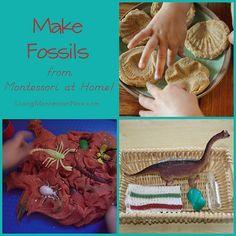 Montessori Monday – Make Fossils from Montessori at Home!
