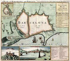 Barcelona 1705 - Barry Lawrence Ruderman Antique Maps Inc.