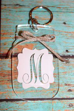 Acrylic Mason Jar Key Chain