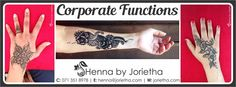 Henna By Jorietha Corporate Functions Henna designs on hands, feet, wrist, arm, neck, back etc  Facebook: www.facebook.com/hennabyjorietha Twitter: @hennabyjorietha Website: http://www.jorietha.com E-mail: henna@jorietha.com