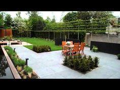 Eind resultaat moderne tuin.