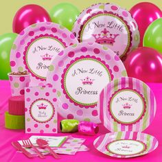 A New Little Princess Baby Shower Standard Party Pack for 16