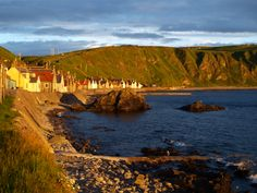 Crovie - quite possibly the most beautiful village in Scotland. No bars, no shops, no cars (except at the car park at the bottom of the hill). Just quiet, sunshine and one hell of a view.
