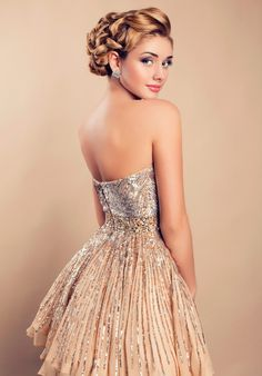 Beautiful Blond Woman Elegant Sequin Dress Stock Photo (Edit Now) 180617582 Dame Chic, Dress Hairstyles, Classy Women, Classy And Fabulous, Sequin Dress, Elegant Dresses, Stylish Outfits, Making Ideas, Wedding Styles