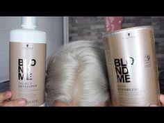 BlondMe Bond Enforcing Premium Lightener From Schwarzkopf - Schwarzkopf hair color - Haar Pflege Silver White Hair, White Blonde Hair, Bleach Blonde Hair, Couleur Schwarzkopf, Schwarzkopf Hair, Vintage Hairstyles, Cool Hairstyles, Lightening Dark Hair, Arabian Makeup