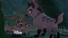 Janja's Clan are supporting antagonists in the 2015 TV film The Lion Guard: Return of the Roar and recurring antagonists in its 2016 follow-up series The Lion Guard. They are a small group of male hyenas who reside in The Outlands and are led by Janja. They are related to the hyena clan who aided Scar when he became King of the Pride Lands. Tom And Jerry Show, 2015 Tv, Lion King 1, Movie Characters, Fictional Characters, Kingdom Come, Cat Things, Circle Of Life, Small Groups