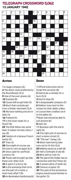 The famed British codebreakers ofBletchley Park placed a challenging crossword puzzle in the Daily Telegraph newspaper onJanuary 13, 1942. Anyone (man or woman) who could solve it in un…