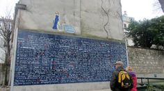 Paris hidden gems Le mur des je t'aime - With over 311 written declarations in 250 different languages, this wall has become a meeting place for lovers.