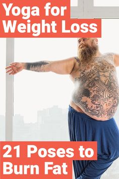 Doing yoga to lose weight is a great way to gain balance back in your life. Here are 21 yoga asanas for beginners and advanced people that will help you burn fat, lose weight, build strength, and increase flexibility. Quick Weight Loss Diet, Weight Loss Help, Yoga For Weight Loss, Losing Weight Tips, Weight Loss Program, Weight Gain, Healthy Weight, Diet Program, Loose Weight