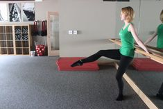 Barre exercise you can do in a doorway