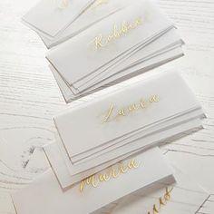 Handwritten Calligraphy | Babooche Calligraphy Calligraphy Wedding Place Cards, Calligraphy Save The Dates, Calligraphy Envelope, Foil Wedding Invitations, Modern Calligraphy, Wedding Paper, Wedding Cards, Wedding Designs, Adobe