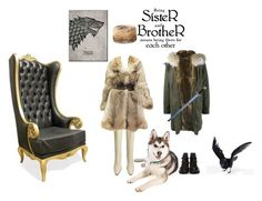 """""""Brother and sister, forever."""" by martine-a-nolan ❤ liked on Polyvore featuring DUBARRY, CÉLINE, Alexander McQueen, Yves Salomon and Dsquared2"""