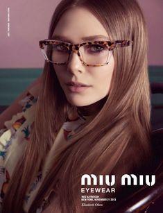 Miu Miu S/S 14 EYEWEAR CAMPAIGN: Elizabeth Olsen photographed by Inez & Vinoodh #miumiueyeglasses