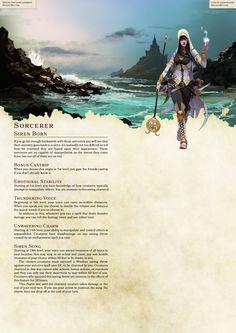 DnD Homebrew — Arilianis Subclasses Part Dungeons And Dragons Classes, Dungeons And Dragons Homebrew, Dungeons And Dragons Races, Dnd Characters, Fantasy Characters, Fantasy Rpg, Fantasy World, Dnd Sorcerer, Dnd Races