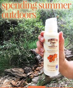Fun plans this summer? Be sure to grab the perfect sunscreen to protect your skin during summer activities. Try Hawaiian Tropic® Silk Hydration Weightless Sunscreen at Walmart! #ad